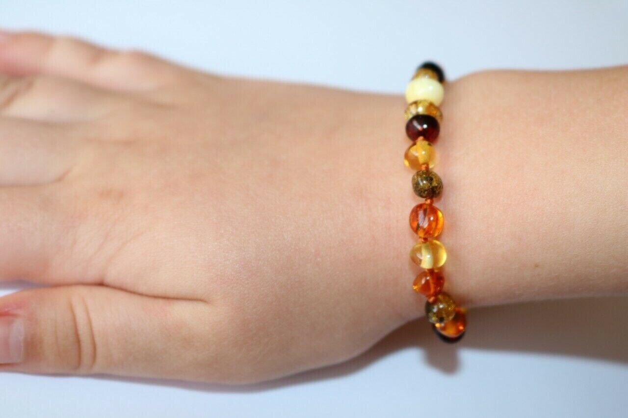 Certified Natural Baltic Amber bracelet for baby girl boy