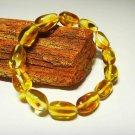 Amber bracelet  Genuine Baltic Amber transparent beads elastic  10gr. A-596