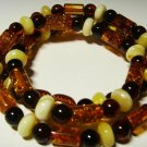 Amber bracelet Natural Baltic Amber mixed colorful beads Ladies  9.81 gr. A-259