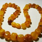 Vintage Amber Necklace Genuine Baltic Amber butterscotch beads  21.74gr A-57