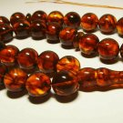 Islamic 33 Prayer beads Natural Baltic Amber pressed tasbih rosary 79.63gr B-680