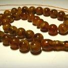 Islamic 33 Prayer beads Genuine Baltic Amber pressed tasbih rosary 27,19gr B-561