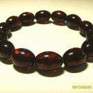 Amber Bracelet Genuine Baltic Pressed Amber elastic  Bracelet  10.66gr B-104