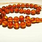 Islamic 33 Prayer Beads Natural Baltic Amber pressed beads tasbih 26,88gr B-603