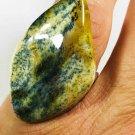 Vintage Natural Baltic Amber Ring blue colour Adjustable size silver big size
