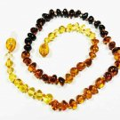 Amber necklace Natural baltic Amber for baby for babies For kids colorful beads