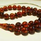 Islamic 33 Prayer Beads Genuine Baltic Amber pressed Tasbih Misbaha 27.11grB143
