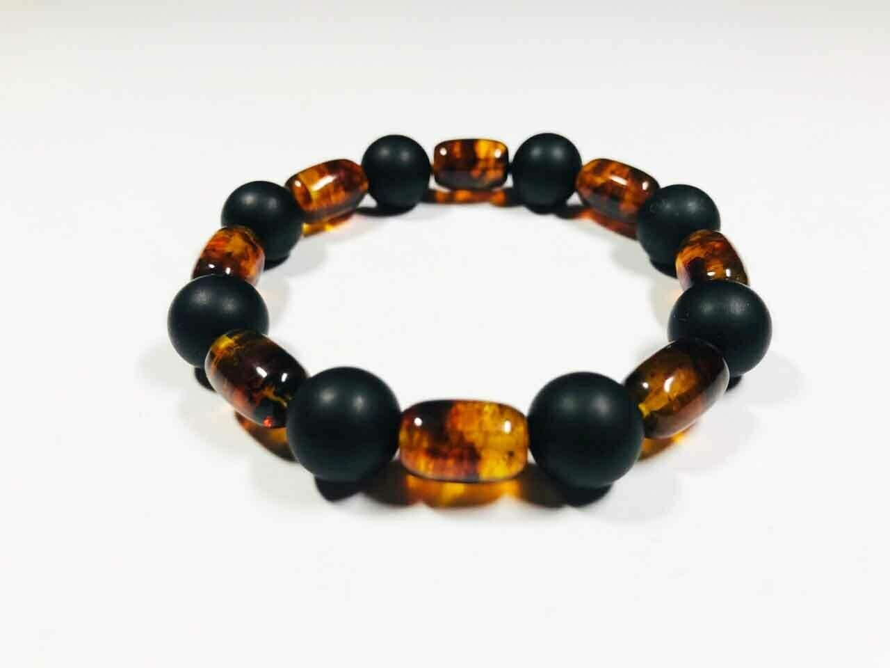 Amber bracelet Natural Baltic Amber pressed mixed colorful beads  10.44gr.B 175