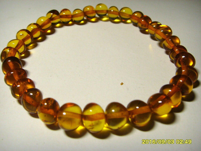 Natural Baltic Amber Bracelet cognac baroque beads  5.88gr.A-372