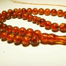 Big Islamic 45 Prayer beads Natural baltic Amber pressed  Tasbih 47.98grB-751