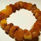 Amber bracelet Genuine Baltic Amber bracelet raw pieces elastic   24.52 gr. A209