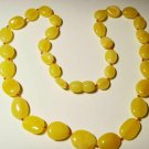 Natural baltic Amber Necklace yellow butter knotted beads Ladies  10.07gr A-395