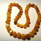 Vintage Amber Necklace Natural Baltic Amber butterscotch  beads  21.74 gr  A-57