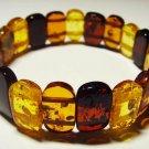 Amber Bracelet Natural Baltic Amber Colorful beads elastic unisex  9.86gr. A-523