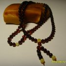 Buddhist Mala Natural Baltic Amber pressed Islamic 108 Prayer beads 11.42grA-484