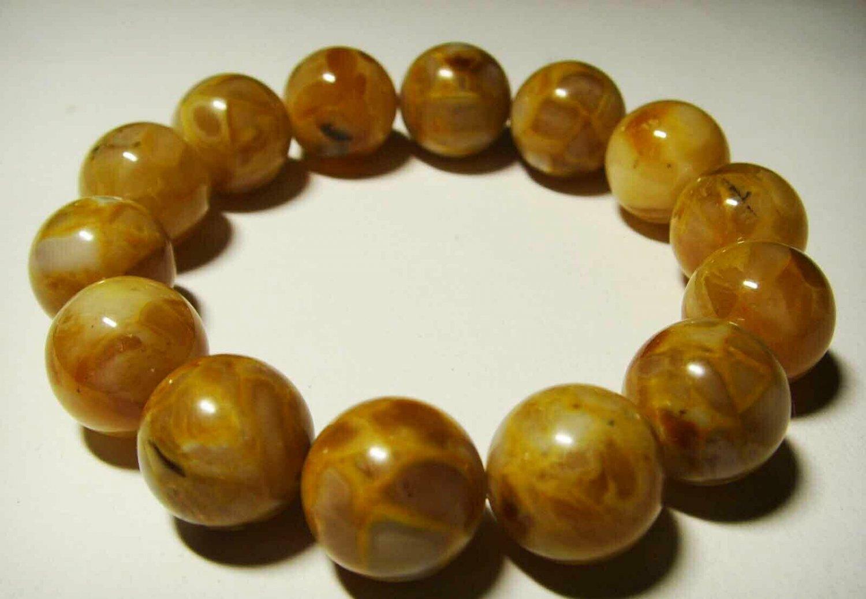 Amber bracelet Natural baltic amber bracelet pressed round beads  21.51gr. B-2