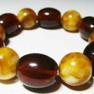 Amber Bracelet Natural Baltic Amber pressed colorful beads unisex  21.23gr- B-52