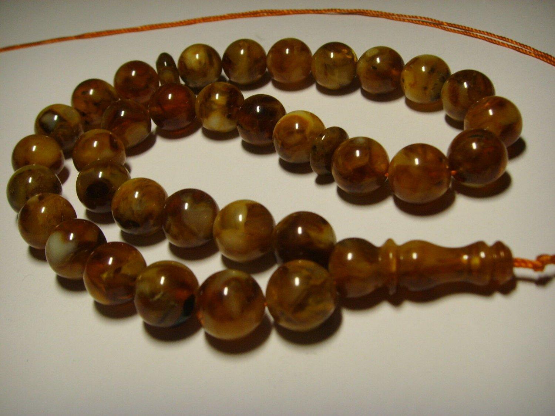 Islamic 33 Prayer Beads Genuine Baltic pressed  Amber Tasbih  26,99gr B-565