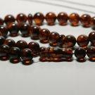 Genuine Baltic AMBER pressed Islamic 33 Prayer beads Tasbih  29.28grB-843