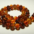 Amber Necklace Natural baltic Amber Pressed colorful beads Ladies 21,76gr.B-354