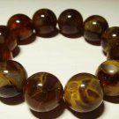 Amber bracelet Genuine Baltic Amber pressed round beads elastic  27.18 gr B-19