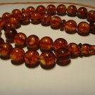 Rosary Islamic 33 Prayer Beads Natural Baltic Pressed Amber Tasbih 26,66gr B-628