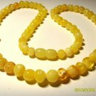 Amber necklace Natural Baltic Amber butter white beads for Ladies  14.66gr A-368
