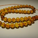 Islamic 45 Prayer beads Natural baltic Pressed Amber rosary Tasbih 48.09gr B108