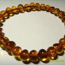Amber bracelet Genuine Baltic Polished  Amber cognac  Bracelet 5.85gr. A-498