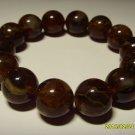 Natural baltic Amber Pressed round beads 15mm bracelet  26.27 gr B-20