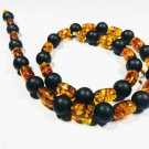 Genuine Baltic Amber Necklace mixed pressed colorful beads unisex  27.42gr. B 10