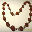 Amber necklace Vintage Genuine Baltic Amber cognac beads Ladies 16.88gr A-226
