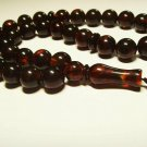 Islamic 33 Prayer beads Natural baltic Amber pressed Tasbih Misbaha 27.78grB-838