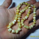 White  Genuine Baltic Amber necklace 18.73 grams  A-526