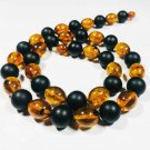 Amber Necklace Natural baltic Amber Necklace pressed beads Ladies 29.48gr B15