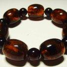 Amber Bracelet Natural baltic Amber Bracelet pressed beads unisex 19.80gr B-66