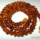 Cognac Natural  Baltic Amber necklace for men for women 14.96grams  A-65