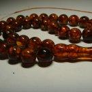 Islamic 33 Prayer beads Natural Baltic Pressed Amber Tasbih  44gr B-666