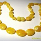 Amber Necklace Genuine Baltic Amber yellow white beads Ladies 12grams  A-260