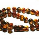 Islamic 33 Prayer beads Genuine Baltic Amber pressed Tasbih Misbaha 22.54grB-850