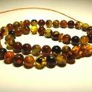 Islamic 45 Prayer beads Natural baltic Amber pressed Tasbih Misbaha 37.55grB863