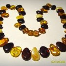 Amber Necklace  Genuine Baltic Amber colorful drop shape Ladies 14.61gr. A-320
