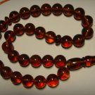 Genuine Baltic AMBER pressed Islamic 33 Prayer beads Tasbih Misbaha 27,38gr