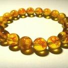 Amber Pressed  Round Beads Genuine Baltic  Bracelet 8,24 gr B-663