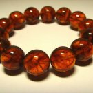 Amber bracelet Natural Baltic Amber pressed round cognac  beads 21.33gr. B-279