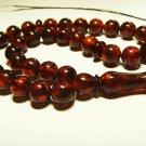 Islamic 33 Prayer beads Natural baltic Amber pressed beads Tasbih  20.65gr B-912