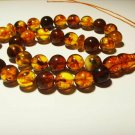 Islamic 33 Prayer beads Natural baltic Amber pressed Tasbih Misbaha 36,77gr B-84