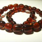 Big size Natural Baltic Amber necklace pressed olive cognac beads  77.88gr B7