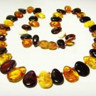 Amber Necklace Natural Baltic Amber colorful beads For Ladies  15.02gr. A-631