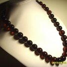 Amber necklace Natural baltic Amber pressed dark cherry round beads    69,69gr.